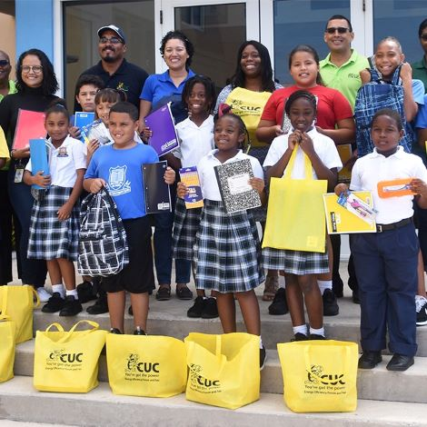 cuc school supplies to primary school lr